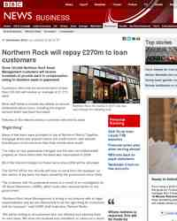 Northern Rock will repay £270m: BBC News